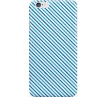Diagonal Stripes - Blue iPhone Case/Skin