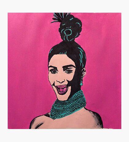 Kim Kardashian Warhol Photographic Print