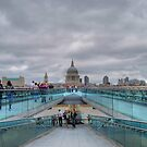 Millennium Bridge & St Paul's by Karen Martin IPA