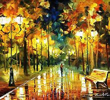 Romantic Lights — Buy Now Link - www.etsy.com/listing/220179760 by Leonid  Afremov