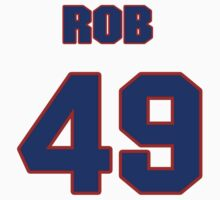 National baseball player Rob Dibble jersey 49 by imsport