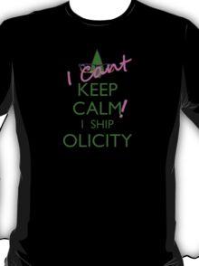 I cant keep calm i ship olicity (green) T-Shirt