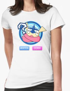 Water / Dork Womens Fitted T-Shirt