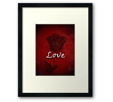Statement of Love Red Rose Framed Print