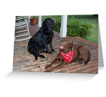 Ruby and Clyde Greeting Card