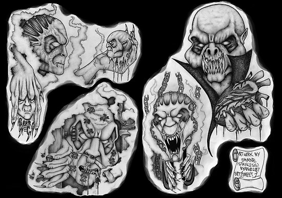 Tattoo flash by Shane Ryan