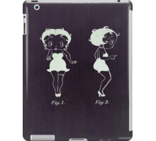 Betty Boop vintage patent from 1932. iPad Case/Skin