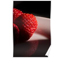 Red Strawberries Poster