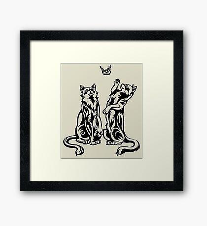 Playful Cats Framed Print
