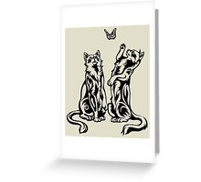 Playful Cats Greeting Card