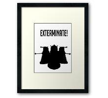 Exterminate! Dalek Silhouette  Framed Print