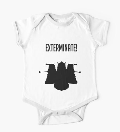 Exterminate! Dalek Silhouette  One Piece - Short Sleeve
