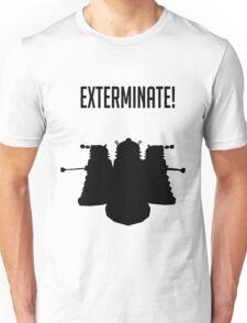 Exterminate! Dalek Silhouette  Unisex T-Shirt