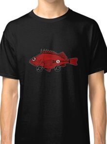 Racing fish - red on black Classic T-Shirt