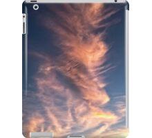 Massive Pastel Vortex Clouds Dwarf Commercial Aircraft iPad Case/Skin