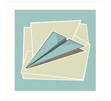 Paper Airplane 83 Art Print