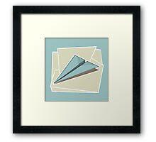 Paper Airplane 83 Framed Print
