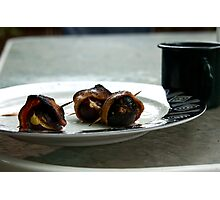 Bacon wrapped figs  Photographic Print