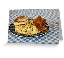 Bacon and Eggs Greeting Card