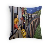 The 3:10 Express to Monster Island Throw Pillow