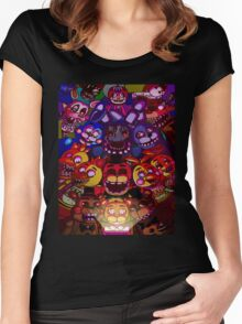 Five Nights at Freddys Women's Fitted Scoop T-Shirt