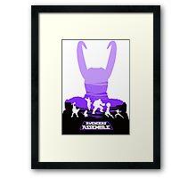 Avengers Assemble Poster Design Framed Print