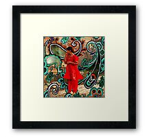 The Fountain Of Cosmic Pleasing Paisley lOve 238 Framed Print