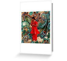 The Fountain Of Cosmic Pleasing Paisley lOve 238 Greeting Card