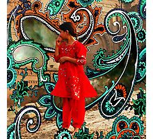 The Fountain Of Cosmic Pleasing Paisley lOve 238 Photographic Print