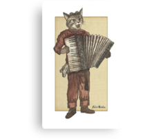 Accordion Cat Canvas Print