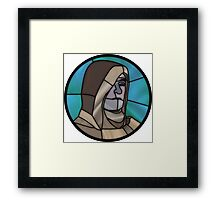 That's a powerful weapon, Guardian. Framed Print