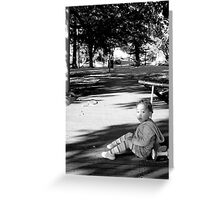 Contemplative Child Greeting Card