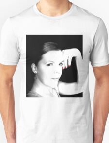 Black & White with touch of Red Unisex T-Shirt