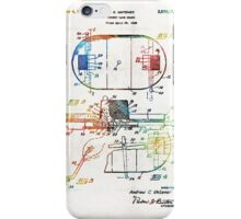 Hockey Art - Game Board - Sharon Cummings iPhone Case/Skin