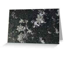 Snow Flakes by Design. Greeting Card