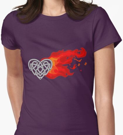 The Fiery Heart Womens Fitted T-Shirt