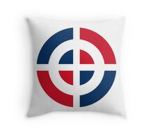 Roundel of the Dominican Air Force Throw Pillow