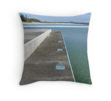 Inline for a swim Throw Pillow