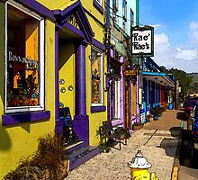 The Colorful Sidewalks Of Newport by James Eddy