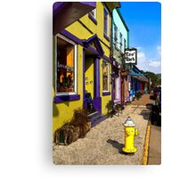 The Colorful Sidewalks Of Newport Canvas Print