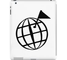 Geocaching globe iPad Case/Skin