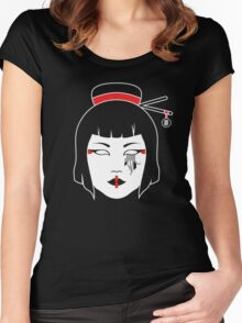 Geisha Chainsaw Women's Fitted Scoop T-Shirt
