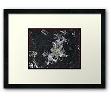 Snow Flake Kiss Framed Print
