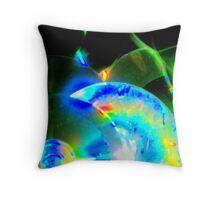 Bright Discs Throw Pillow