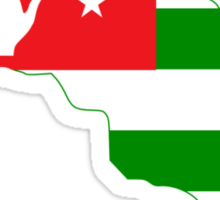 Abkhazia Flag Map Sticker