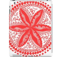 Hearts and Flowers 1 in Red - An Aussie Tangle see description notes for background colour options iPad Case/Skin