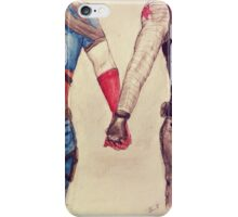 Stucky ~ Captain America and Bucky Barnes Holding Hands  iPhone Case/Skin