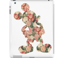 Red Floral Mickey iPad Case/Skin