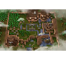 3D Link to the Past Map Photographic Print