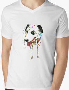 Spotty Dog Mens V-Neck T-Shirt